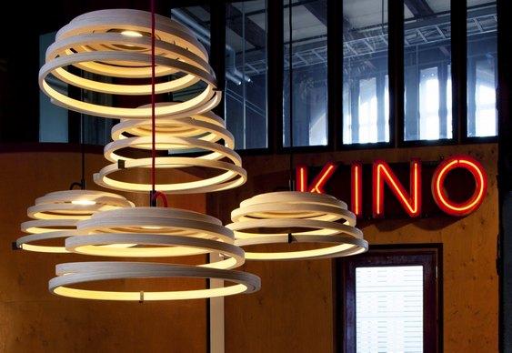 Pingentes em espiral na decoração