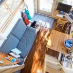 Projeto para construção de casa pequena e barata sobre rodas