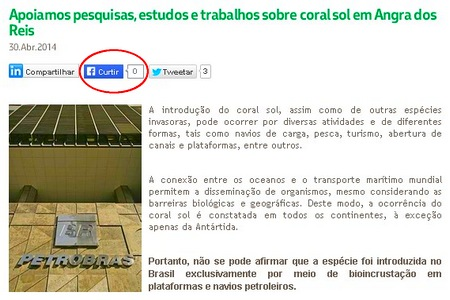 Comunicação da Petrobras