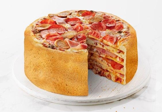 Pizza em camadas