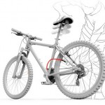 Bomba de ar para encher pneus embutida no quadro da bicicleta