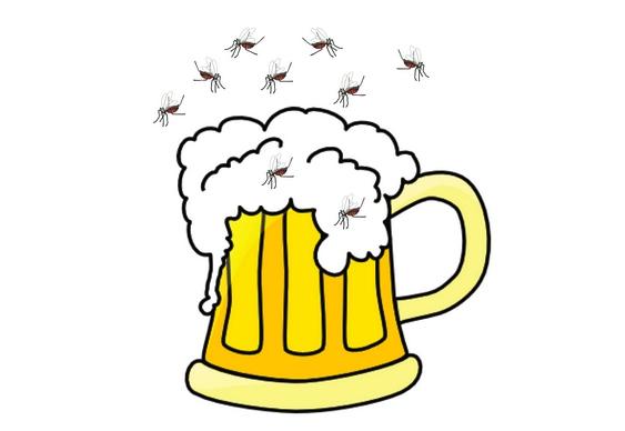 Mosquitos atraídos por quem bebe cerveja