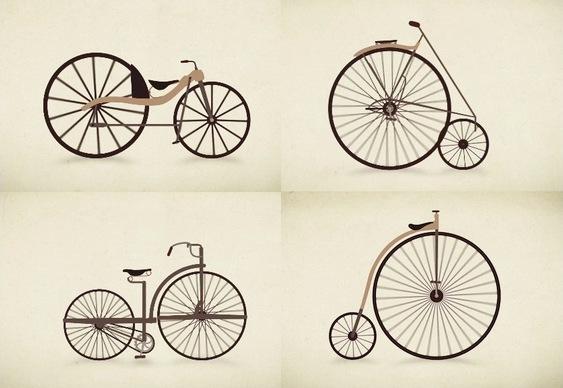 Evolução no design das bikes
