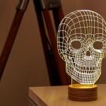 Lâmpada plana em 2D cria ilusão de ótica de LED tridimensional