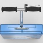 A maleta executiva 007 que se transforma em patinete elétrico