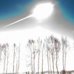 A explosão do meteorito que caiu na cidade russa de Murmansk