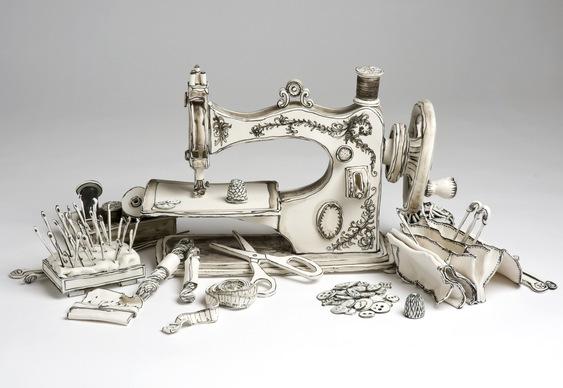 Máquina de costura a manivela