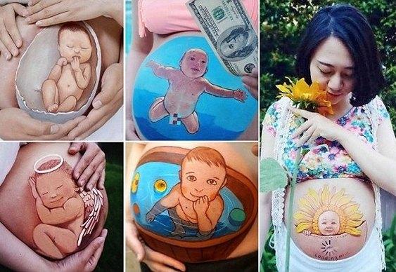 Filho crescendo no ventre