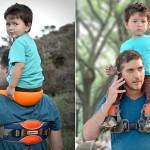 Suporte para carregar crianças de cavalinho no ombro com segurança