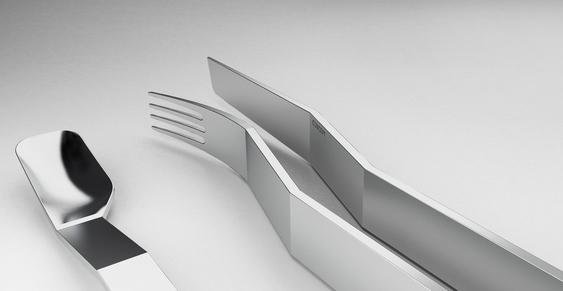 Garfos e facas modernos