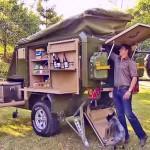 Trailer off-road para acampamentos durante aventuras de jipe