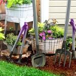 Kit com ferramentas de jardinagem em módulos intercambiáveis