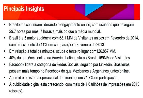 Preferência por blogs no Brasil e no mundo