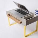 Mesa ou escrivaninha de cimento armado para computador