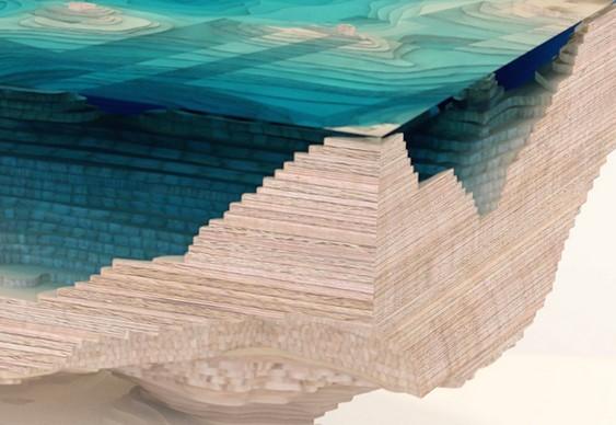 Empilhamento em 3D revela fossas abissais
