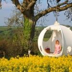 Barraca de camping redonda para pendurar em galhos de árvores
