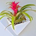 Vaso de parede dobrável como origami japonês de plástico biodegradável