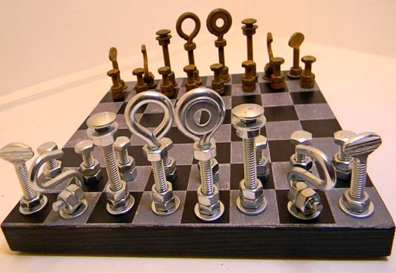 Jogo de xadrez com ferragens