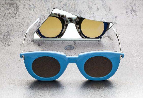 Óculos com dois lados diferentes