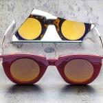 Par de óculos de sol 'dois-em-um' com as hastes reversíveis