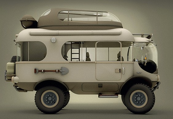 Veículo adaptado para camping