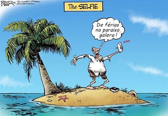 Pagando mico com selfie
