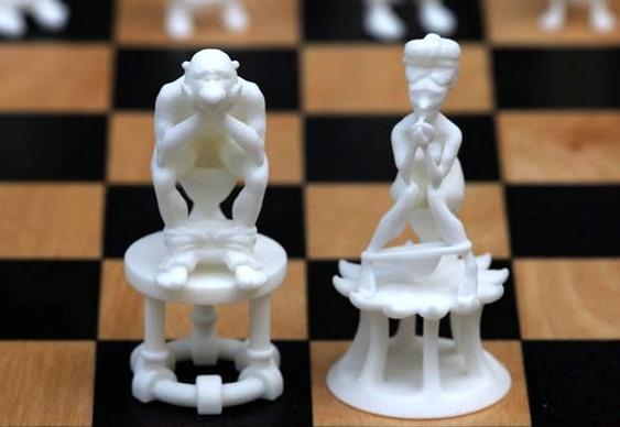 Jogo de xadrez com privadas