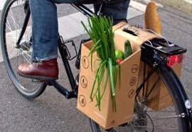 Bagageiro sustentável para bikes