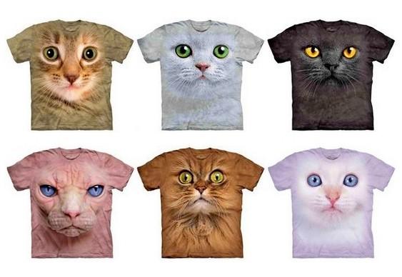 Gatos em estampas para roupas
