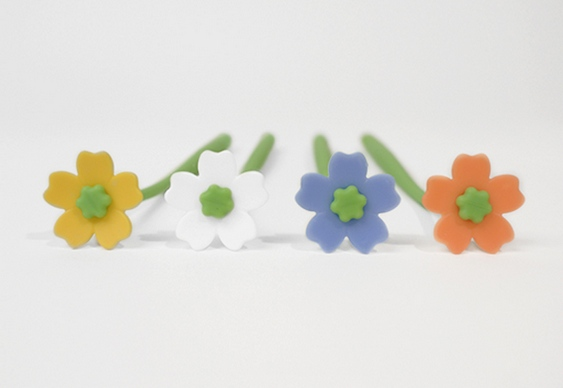 Flores de silicone