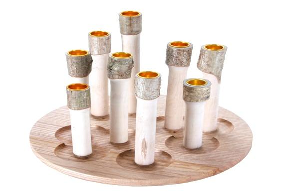 Castiçais rústicos para velas