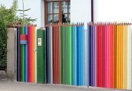Muro de madeira colorida