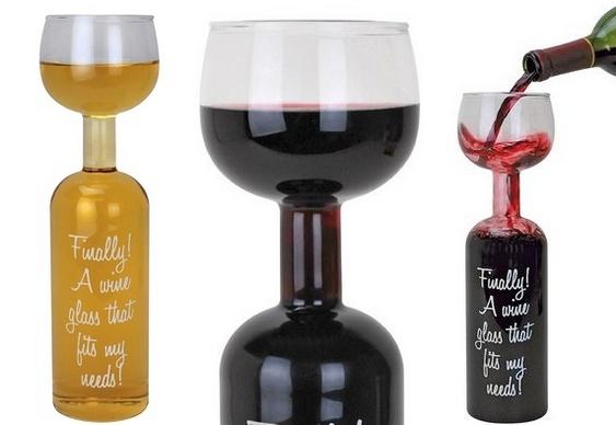 Garrafa de vinho diferente