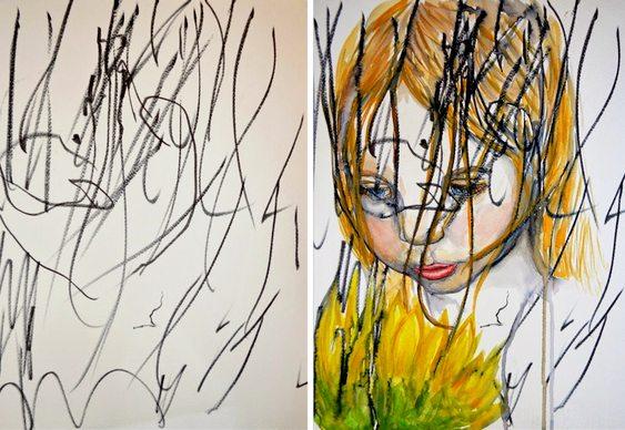 Mãe e filha artistas