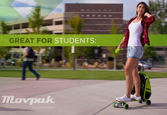 Skate acoplado a mochila