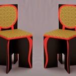 Pintura de móvel clássico em cadeira de papelão ou MDF