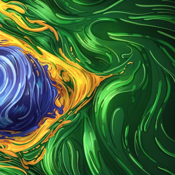 Bandeira brasileira em arte digital