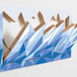 Design de cabideiro para parede cria vista para as montanhas