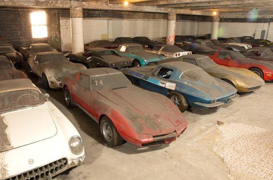 Garagem de Corvettes