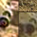 Eixo com rodas e pneus encontrado na superfície de Marte
