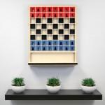 Jogo de xadrez vertical para paredes num vídeo divertido