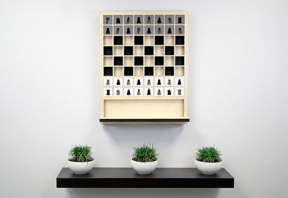 Xadrez como quadro de parede