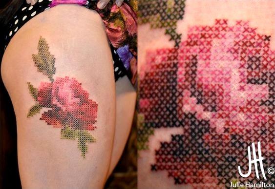 Tattoo em alto-relevo