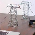 Mini torres de transmissão para cabos de energia elétrica