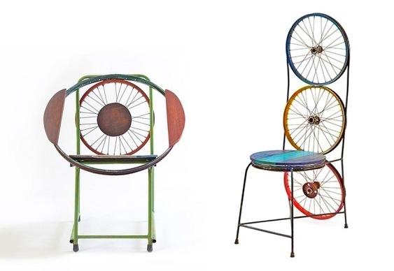 Móveis feitos com sucata de bike