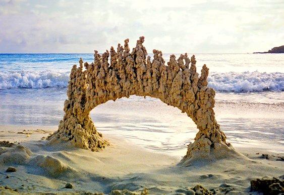 Portal mágico na praia