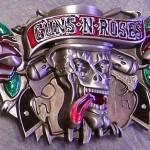 Fivelas da banda Guns N' Roses para cintos de roqueiros
