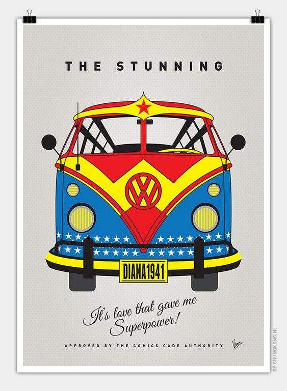 VW Bus Wonder Woman