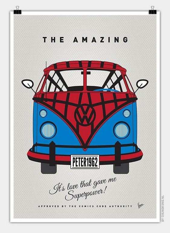 VW Bus Spiderman