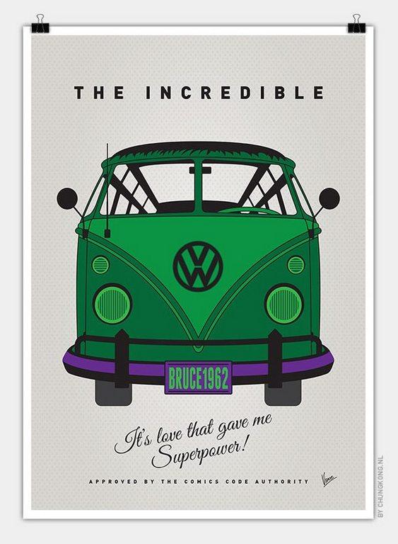 VW Bus Incredible Hulk